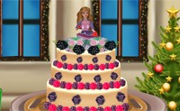 Barbie Christmas Cake